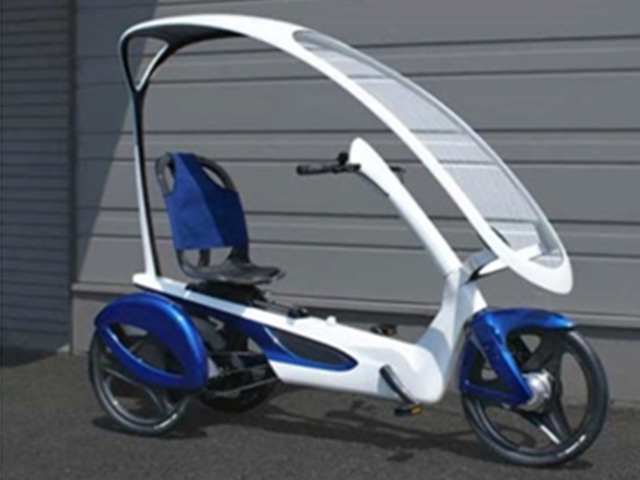 Mitsubishi Chemical Corp. Electric-assist tricycle production (CFRP body)